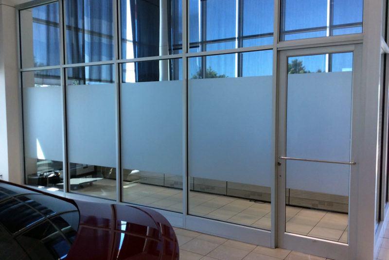 Exterior Window Frosting