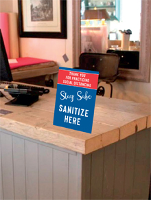 Counter Signs with Easels