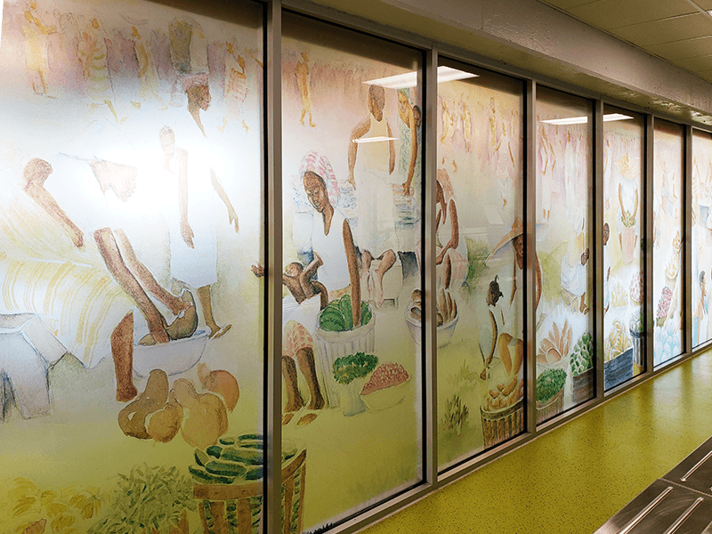Interior Translucent Window Graphics