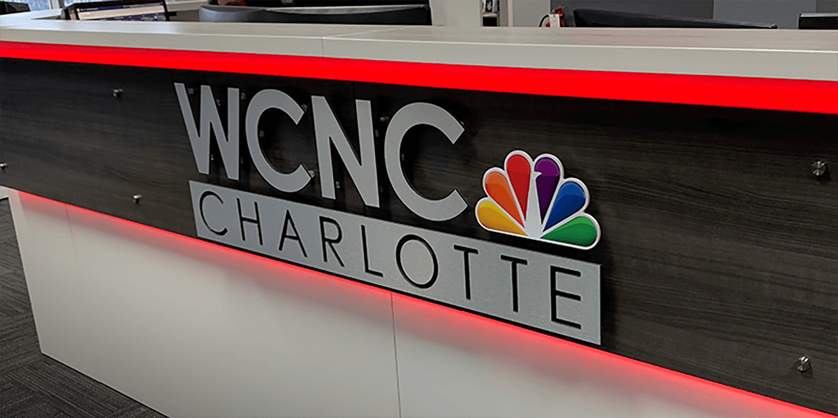 Lobby Sign WCNC Charlotte