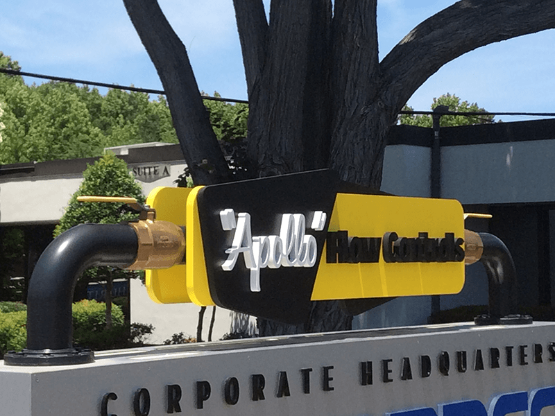 Routed and painted pvc business sign