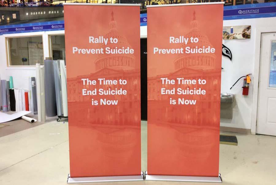 Pop Up Banners DC, VA, MD: Retractable Banner Stands | Heritage